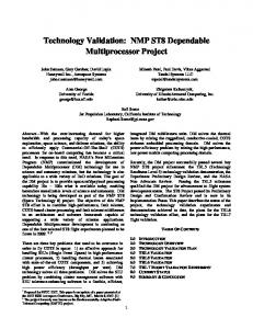 Technology Validation: NMP ST8 Dependable Multiprocessor Project