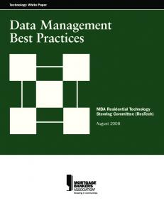 Technology White Paper Data Management Best Practices