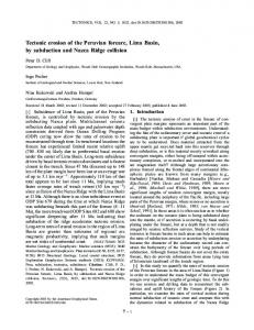 Tectonic erosion of the Peruvian forearc, Lima ... - Wiley Online Library