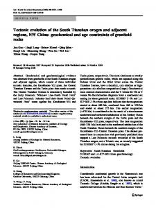Tectonic evolution of the South Tianshan orogen and adjacent regions ...
