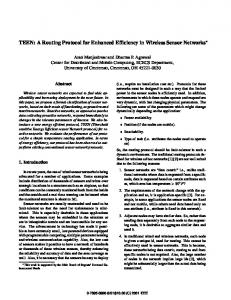 TEEN: a routing protocol for enhanced efficiency in ... - CiteSeerX