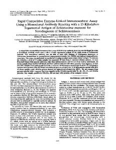 Tegumental Antigen of Schistosoma mansoni for - Journal of Clinical ...