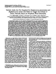 Teichoic Acids Are Not Required for Streptococcus pneumoniae and ...