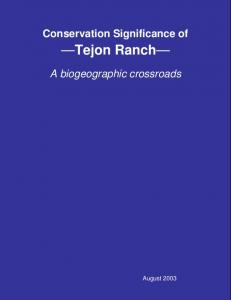 Tejon Ranch Conservancy