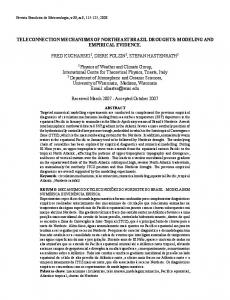 TELECONNECTION MECHANISMS OF NORTHEAST ... - SciELO