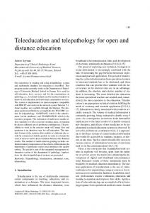 Teleeducation and telepathology for open and distance education