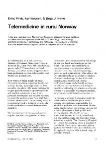 Telemedicine in rural Norway - World Health Organization
