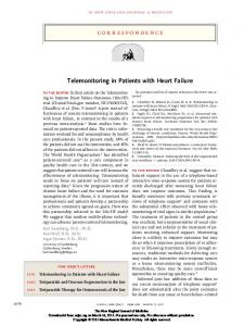 Telemonitoring in Patients with Heart Failure