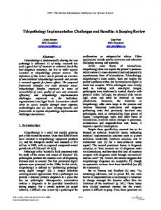 Telepathology Implementation Challenges and Benefits - IEEE Xplore
