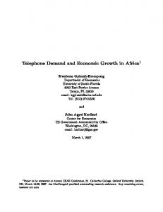 Telephone Demand and Economic Growth in Africa