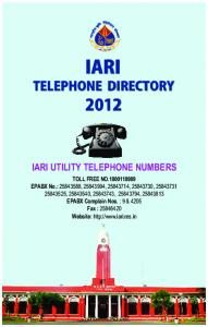 TELEPHONE DIRECTORY - Indian Agricultural Research Institute