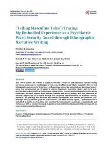 Telling Masculine Tales - Scientific Research Publishing