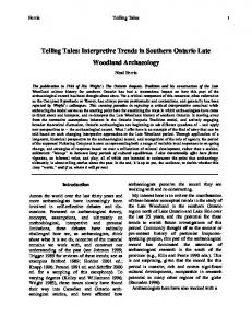 Telling Tales: Interpretive Trends in Southern Ontario ...