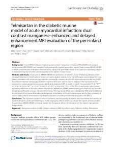 Telmisartan in the diabetic murine model of acute myocardial ...