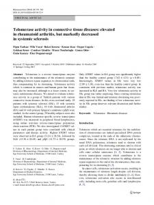 Telomerase activity in connective tissue diseases - Springer Link