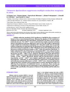 Telomere dysfunction suppresses multiple ... - Impact Journals