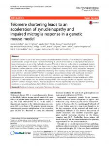 Telomere shortening leads to an acceleration of