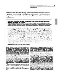 Temozolomide followed by combined immunotherapy ... - BioMedSearch