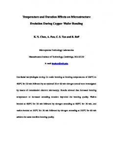 Temperature and Duration Effects on ... - Semantic Scholar