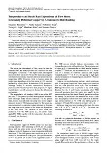 Temperature and Strain Rate Dependence of Flow Stress in Severely ...