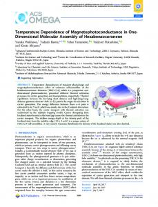 Temperature Dependence of ... - ACS Publications