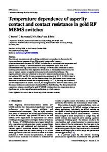 Temperature dependence of asperity contact and contact resistance in