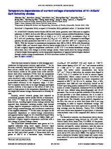 Temperature dependence of current-voltage ... - AIP Publishing