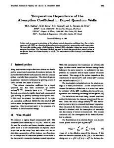 Temperature Dependence of the Absorption Coe cient in ... - SciELO