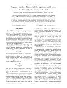 Temperature dependence of the coercive field in ... - APS Link Manager