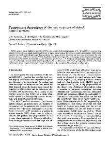 Temperature dependence of the step structure of ... - Science Direct