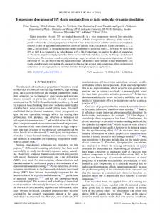 Temperature dependence of TiN elastic constants ... - APS Link Manager