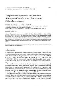 Temperature-dependence of ultraviolet absorption cross-sections of