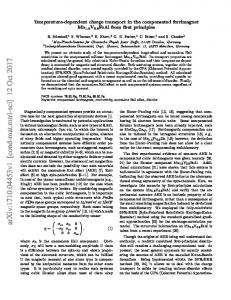 Temperature-dependent charge transport in the compensated ...