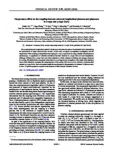 Temperature effect on the coupling between coherent longitudinal ...