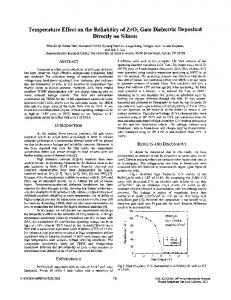 Temperature effect on the reliability of ZrO/sub 2/ gate dielectric ...