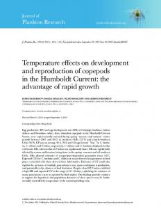 Temperature effects on development and ... - Oxford Journals