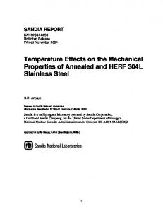 Temperature Effects on the Mechanical Properties of Annealed and