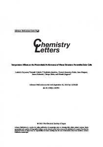 Temperature Effects on the Photovoltaic Performance of ... - CiteSeerX