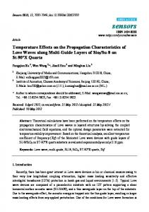 Temperature Effects on the Propagation Characteristics of Love