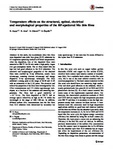 Temperature effects on the structural, optical, electrical and ...