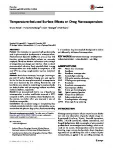 Temperature-Induced Surface Effects on Drug