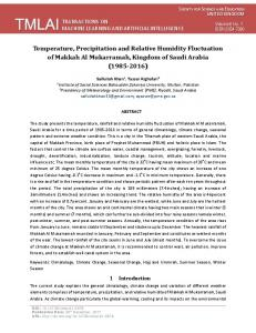 Temperature, Precipitation and Relative Humidity Fluctuation of ...