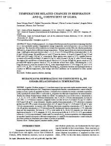 temperature-related changes in respiration and q ... - Revistas USP