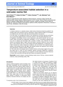 Temperature‐associated habitat ... - Wiley Online Library