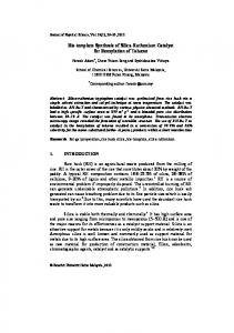 Template – free synthesis of spherical like silica nanoparticles from ...