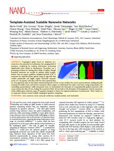 Template-Assisted Scalable Nanowire Networks - ACS Publications