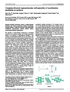 Template-directed supramolecular self-assembly of coordination ...