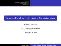 Template Matching Techniques in Computer Vision - TeV