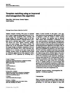 Template matching using an improved ... - Semantic Scholar