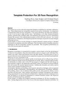 Template Protection For 3D Face Recognition